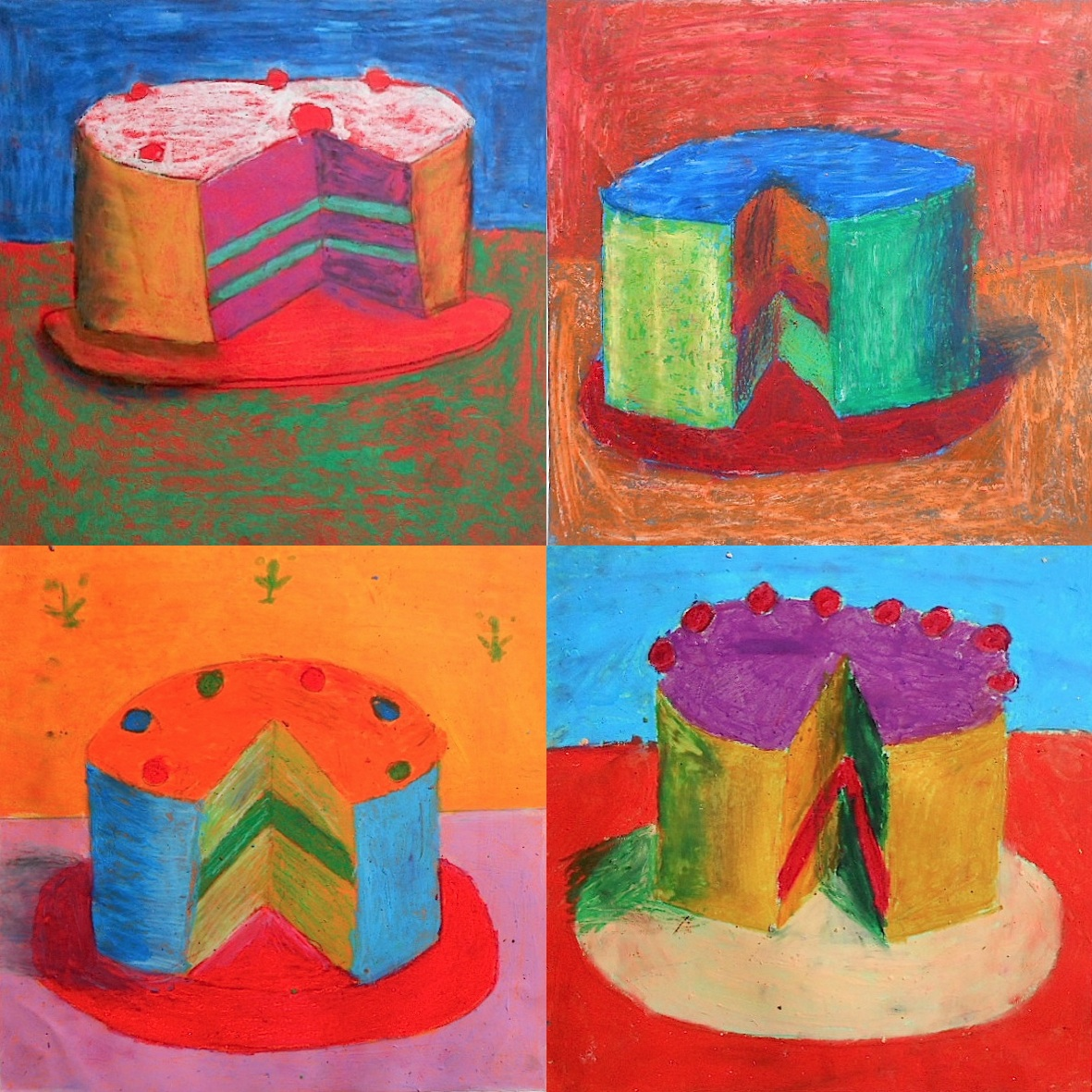 Artist Who Draws Cake : Cakes inspired by Wayne Thiebaud