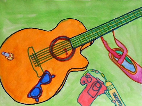Contour Line Drawing Guitar : Gibson sg mike s guitar bar
