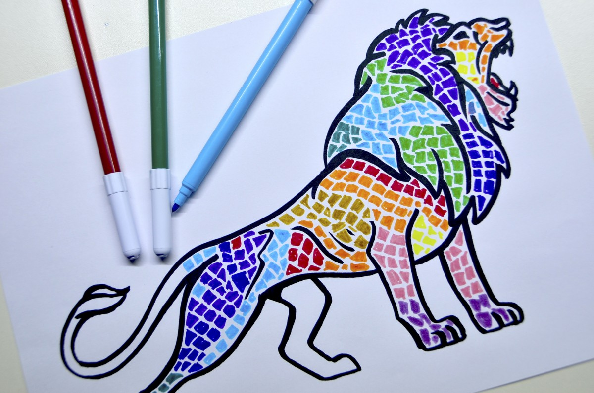 Image of: Mosaico dsc0251 Arte Scuola Animals Decorated With Mosaics Inspired By Gaudi