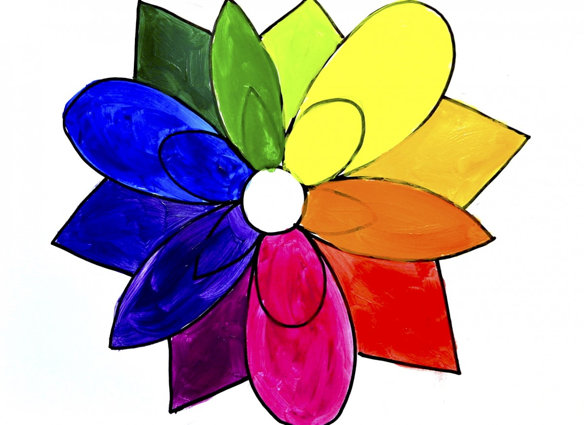 The Color Wheel Like A Flower