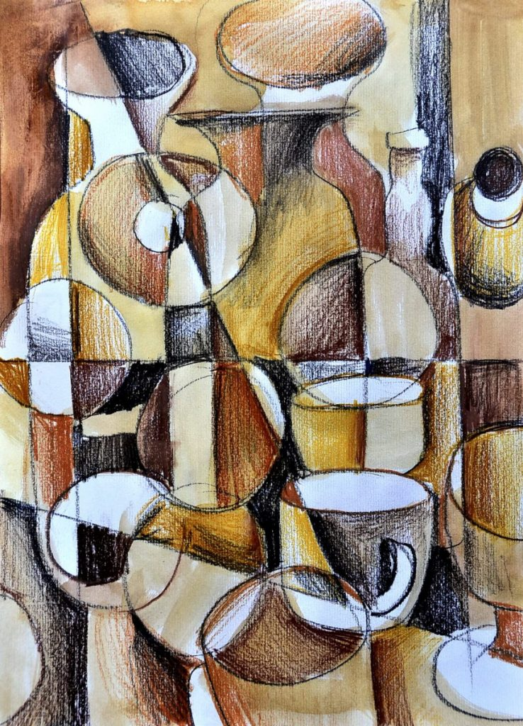 Video Tutorial Cubism With Pencils And Coffee