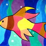 Fishes in warm and cool colors …