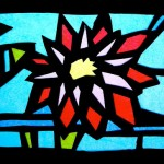 Stained glass of tissue paper