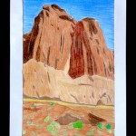 Mountain landscapes with colored pencils