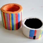 Vases made with clay coils