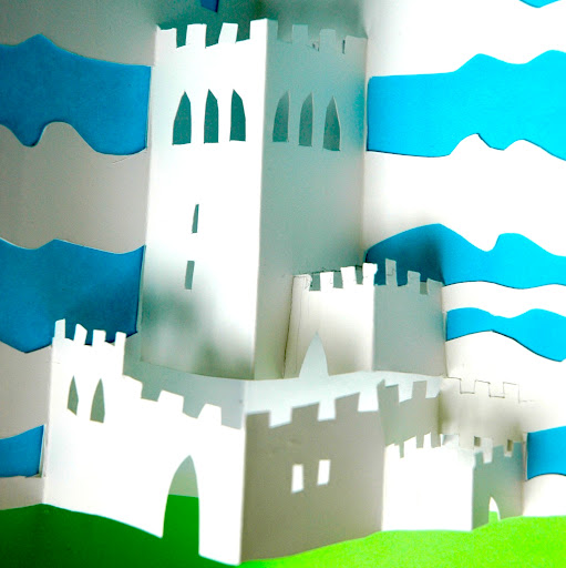 how to make a pop up castle book