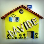Ceramic: little house to hang