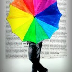 A Rainbow Umbrella!