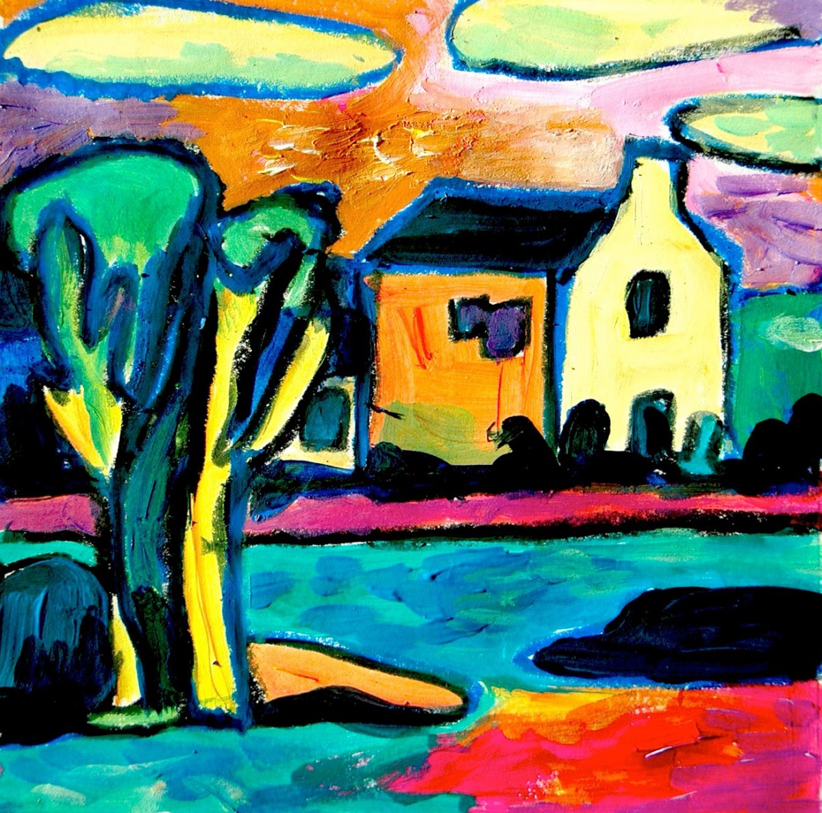 Inspired by the Kandinsky's landscapes
