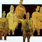 Terracotta Army printed wit foam