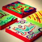 Names on small canvases