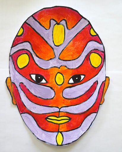 Symetrical Designs symmetrical masks painted