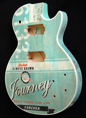 another painted guitar les paul journey. Black Bedroom Furniture Sets. Home Design Ideas