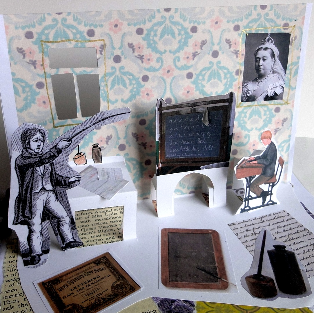 Classroom Display Ideas Victorians ~ The victorian school into a collage pop up
