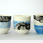 Small pots in blue
