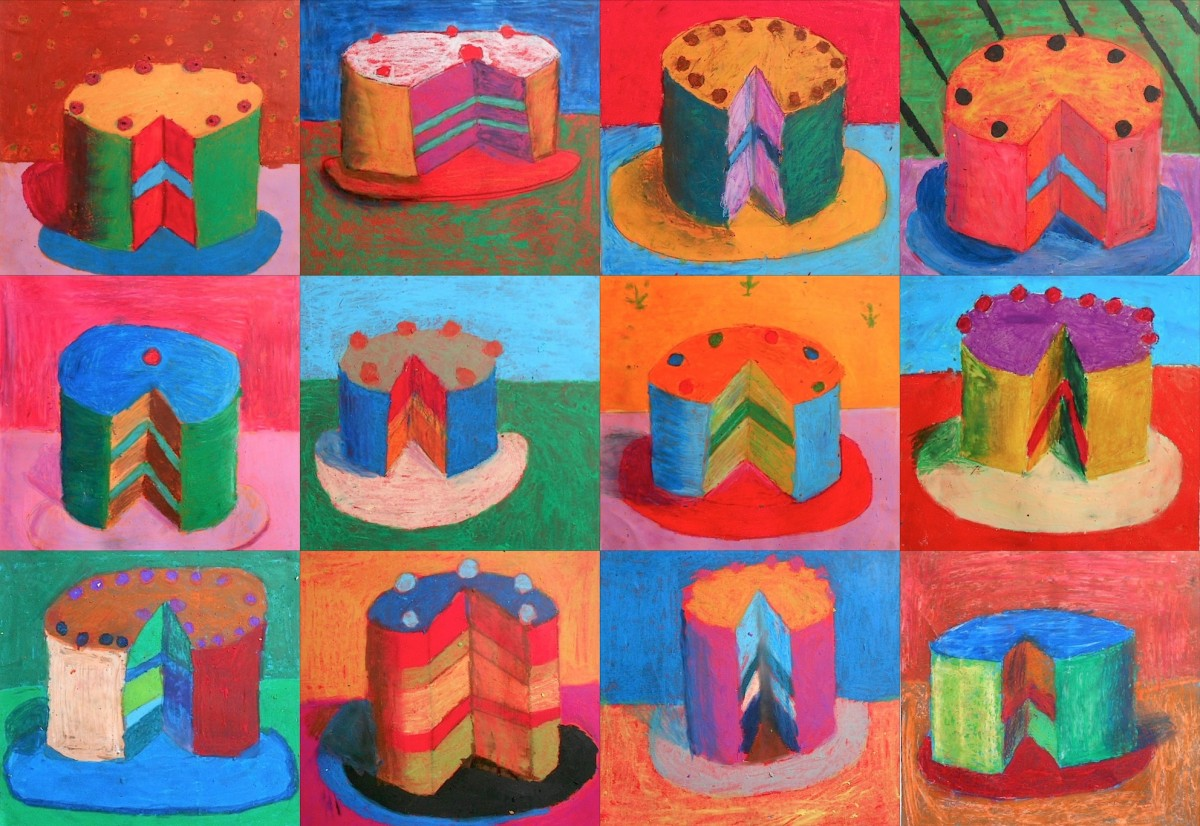 Cakes inspired by Wayne Thiebaud