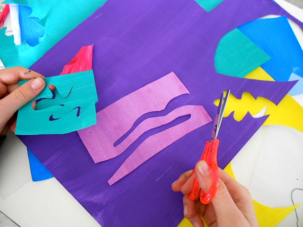 how to make matisse cut outs