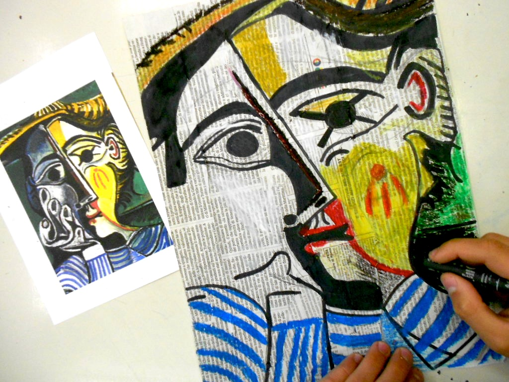 Picasso Cubist Faces The style of picasso portraits