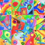 Abstract watercolors… follow instructions!