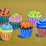 Cupcakes inspired by Wayne Thiebaud