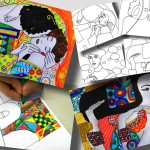 4 printable worksheets about Gustav Klimt: second set