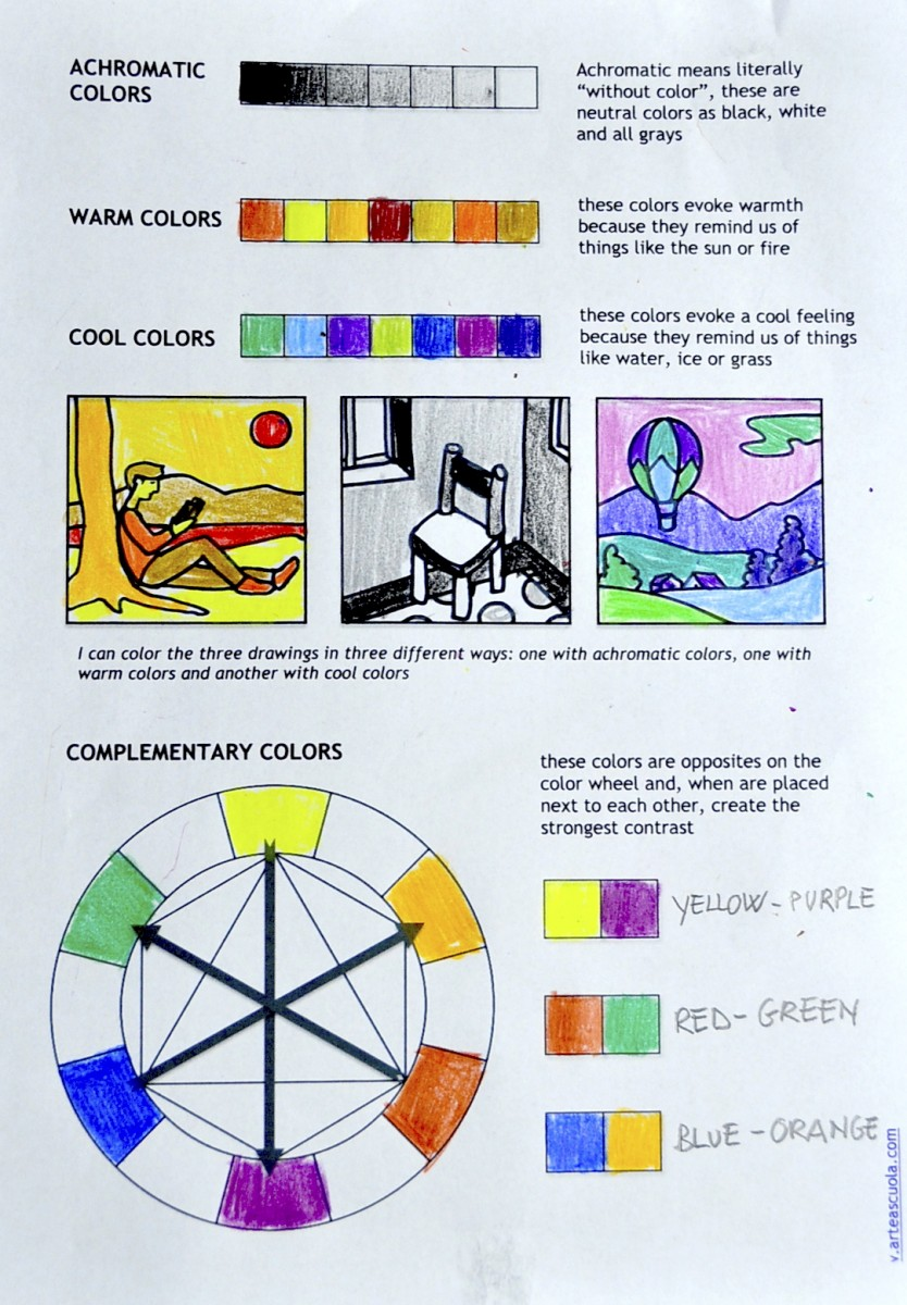 color theory worksheets and video tutorial. Black Bedroom Furniture Sets. Home Design Ideas