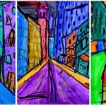 The city in Expressionist style