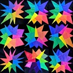 The color wheel star-shaped