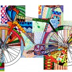 Bicycle texturized: 20 printable worksheets