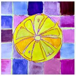 Citrus fruits in complementary colors