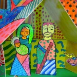 Nativity in the style of Romero Britto