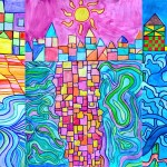 Watercolor landscapes in the style of Paul Klee