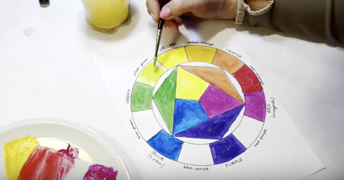 How To Paint The Color Wheel Video Tutorial