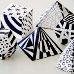 3-D Geometric Paper Shapes with Patterns
