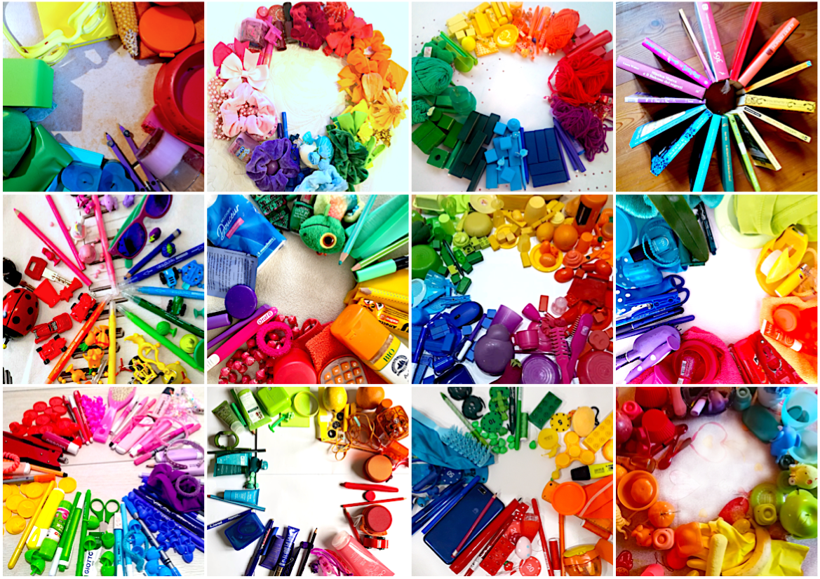 Create A Color Wheel With Objects