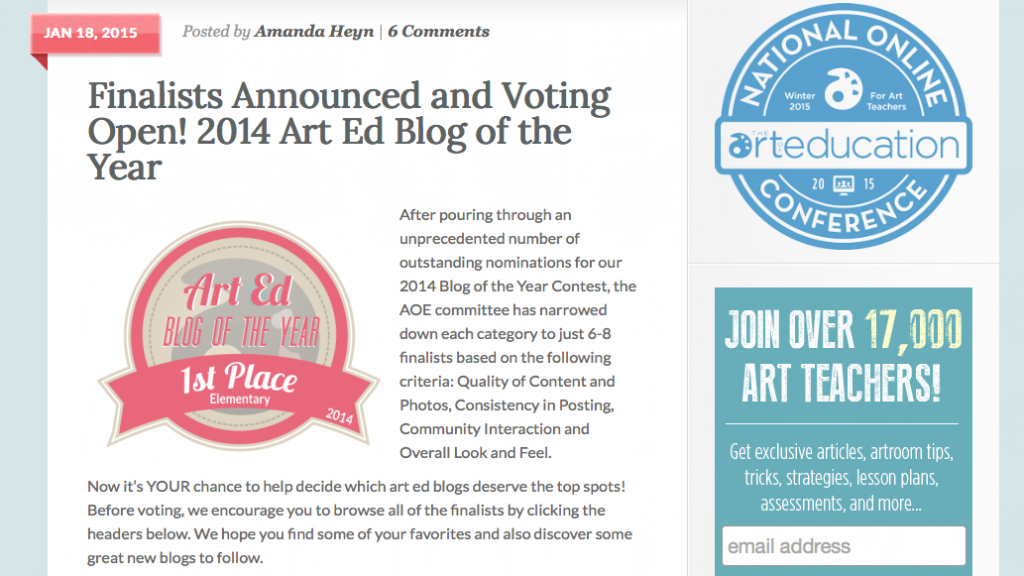 art ed blog 2014
