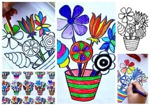 5 shuffle vaso fiori
