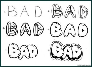 How_to_draw_bubble_letters_free_lesson_webpage