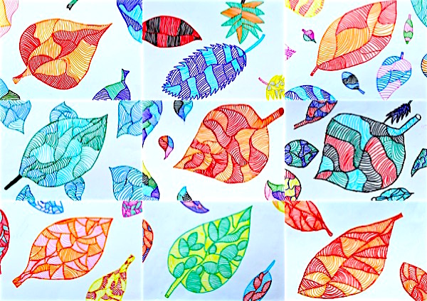foglie righe 3x3