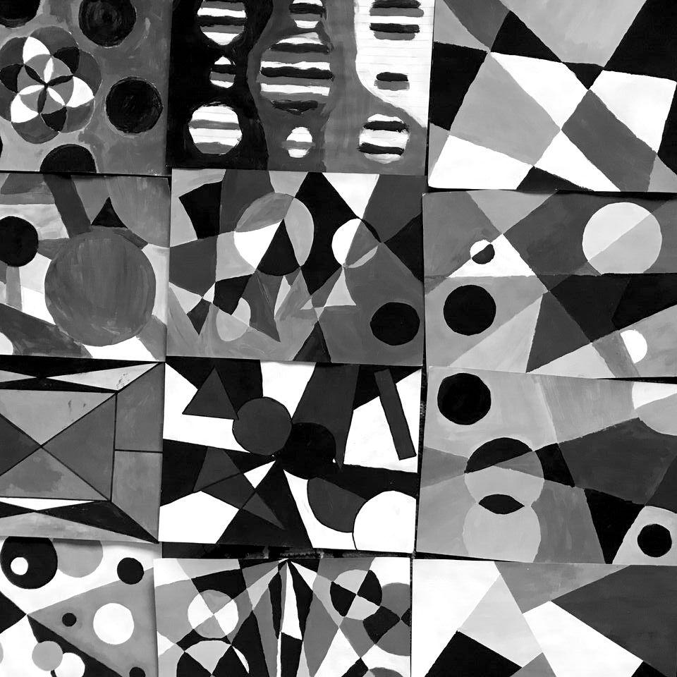 Disegni Geometrici Bianco E Nero dipinti (foto)grafici in bianco e nero