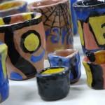 Vases, jars, bowls and glasses …