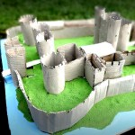 Caerphilly Castle's model