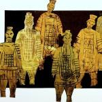 Terracotta Army printed wit foam