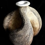 Coil vase with a 'not round' base