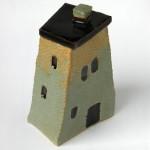 Small ceramic house-box