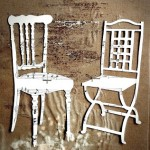 Silhouettes of chairs for poetic evocations