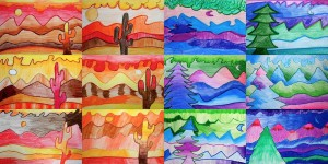 warm and cool landscapes