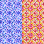 Pattern with radial drawings