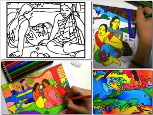 collage gauguin worksheets
