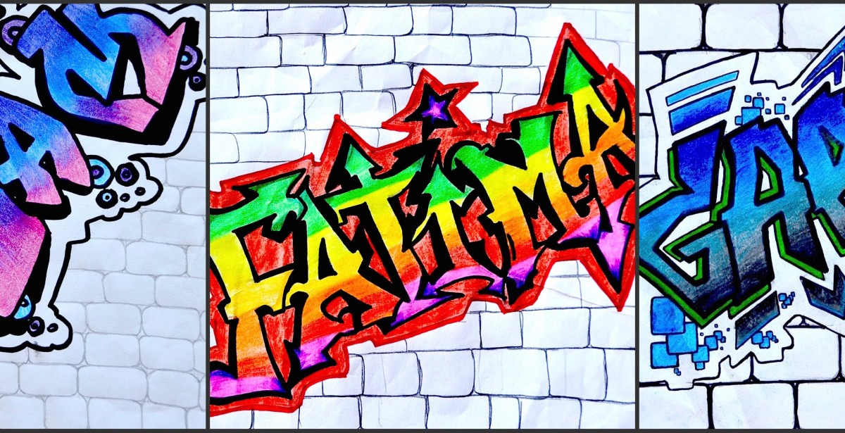 Имена в стиле граффити картинки